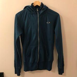 Oakley teal zip up hoodie